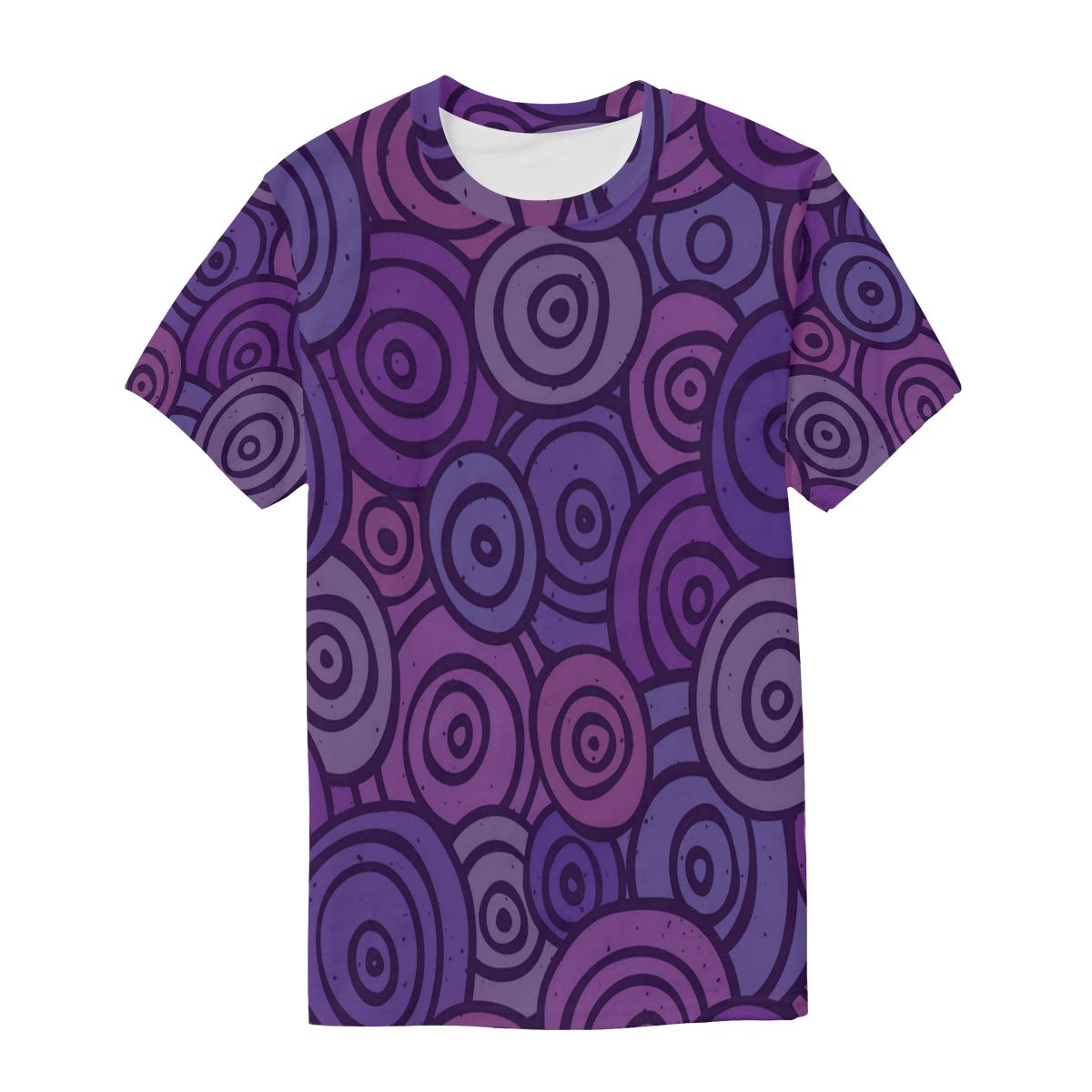 Pop Art Retro Pattern Purple Mens T Shirts Graphic Funny Body Print Short T-Shirt Unisex Pullover Blouse