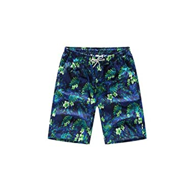 d72137b30b Hilai Printed Men Swim Shorts Fast Dry Swimming Trunks Adjustable Draw Cord  Beach Short Pants Internal