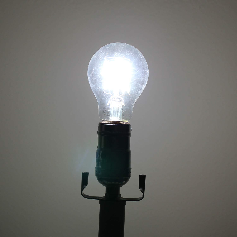 2700K 4000K 5000K 360 Degree Beam Angle 5000K, 15 Pack Dimmable LED Edison Light Bulbs 60 Watts Equivalent E26 Base A19 Clear 7 Watts LED Filament Bulbs 810 Lumen