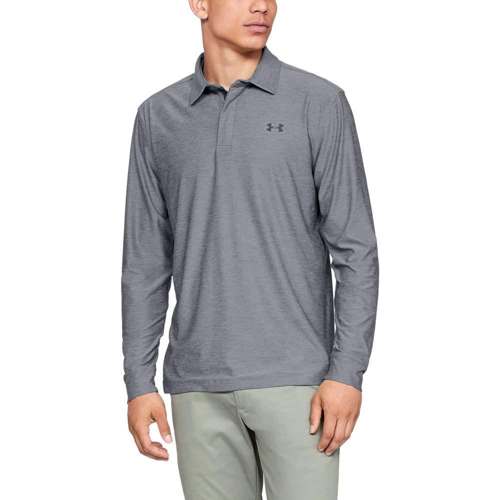 Under Armour Men's Playoff Long Sleeve Golf Polo, Zinc Gray (513)/Rhino Gray, Small