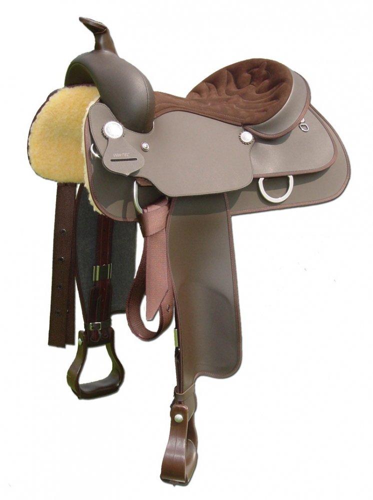 Wintec Western Saddle With Full Quarter Horseバー 17 ブラック B001LBVK2Y