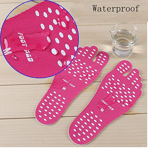 Supplies skid Beach Mats Elastic Shoes Insoles Beach Shoes Black Anti Invisible Sticker Sunbeter Pool Vacation Flexible Foot Pad 6RawqYSx