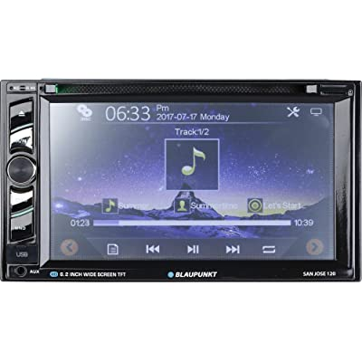 Blaupunkt SANJOSE 120 6.2-Inch Touch Screen DVD Multimedia Car Stereo Receiver with Bluetooth: Electronics