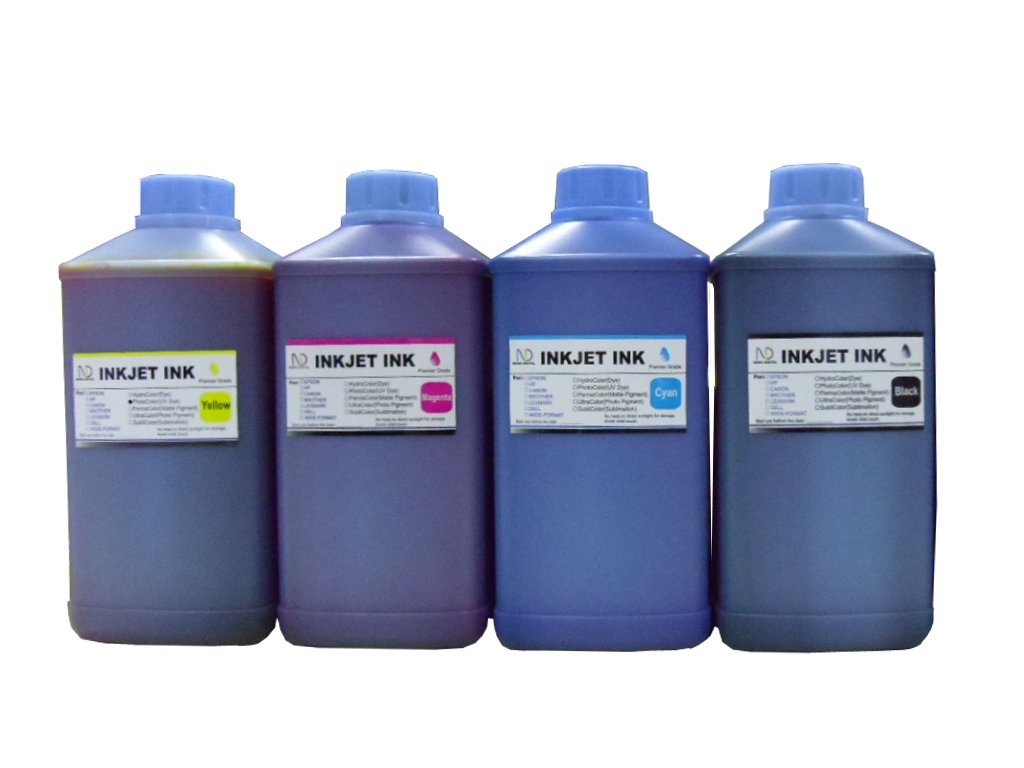 ND R@ 4x1000ml refill ink set for Epson 702 T702 WorkForce Pro WF-3720 refillable cartridges or cis ciss ink system + free 4 syringes by ND (Image #1)