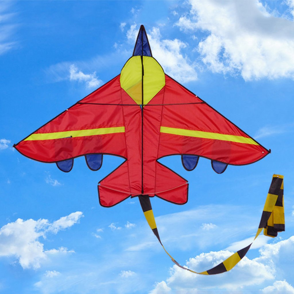 JAGENIE New aereo forma aquiloni aquiloni esterni Flying Toys Kite for children Kids, Nylon, Blue, 145 * 100cm