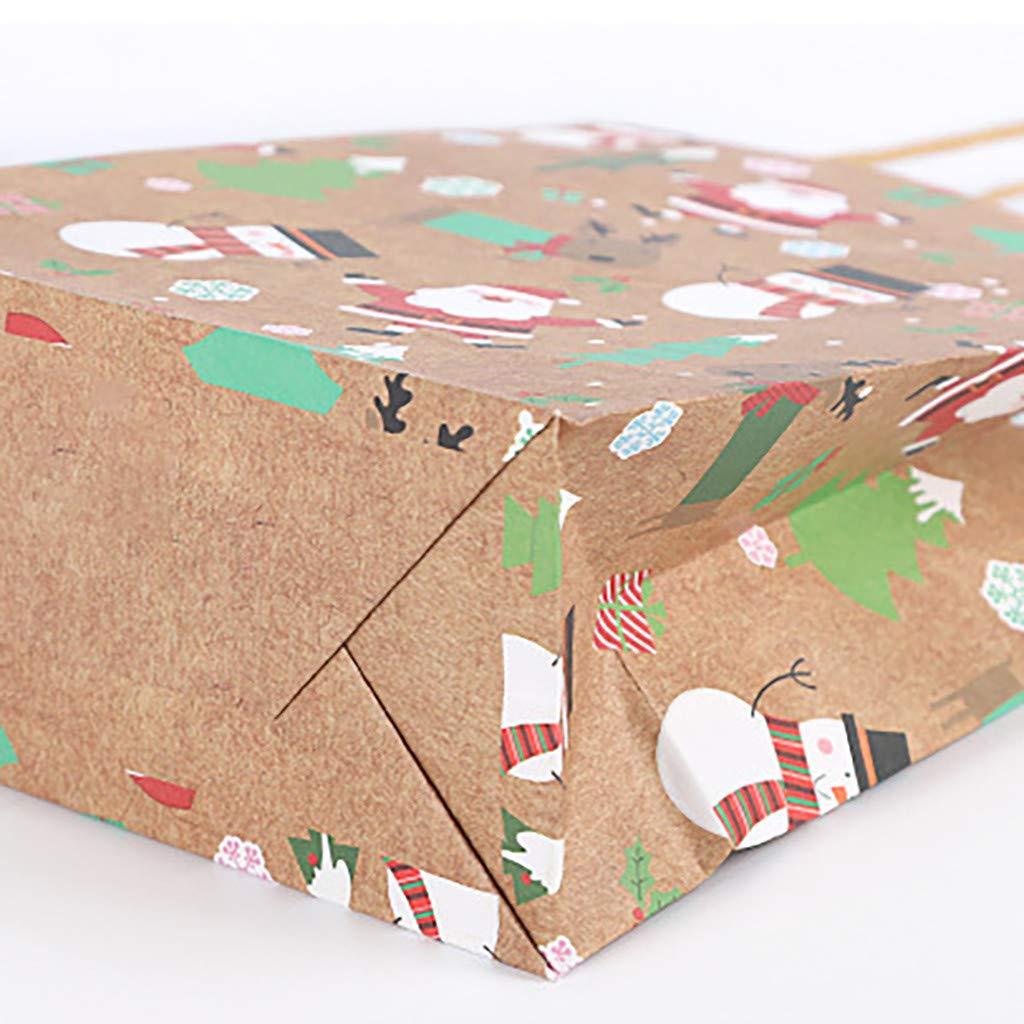 4 Stili per Mettere la Pace Frutta Piccole Caramelle L Sacchetti di Carta Kraft Sacchetti di Carta da pacchi per Regali di Natale 12 Pezzi ToDIDAF Feste di Compleanno e Regali