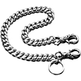 TIASRI Full Stainless Steel Anti-Lost Keychain Firm Secure Key Chain Never Rust, Bend or Break