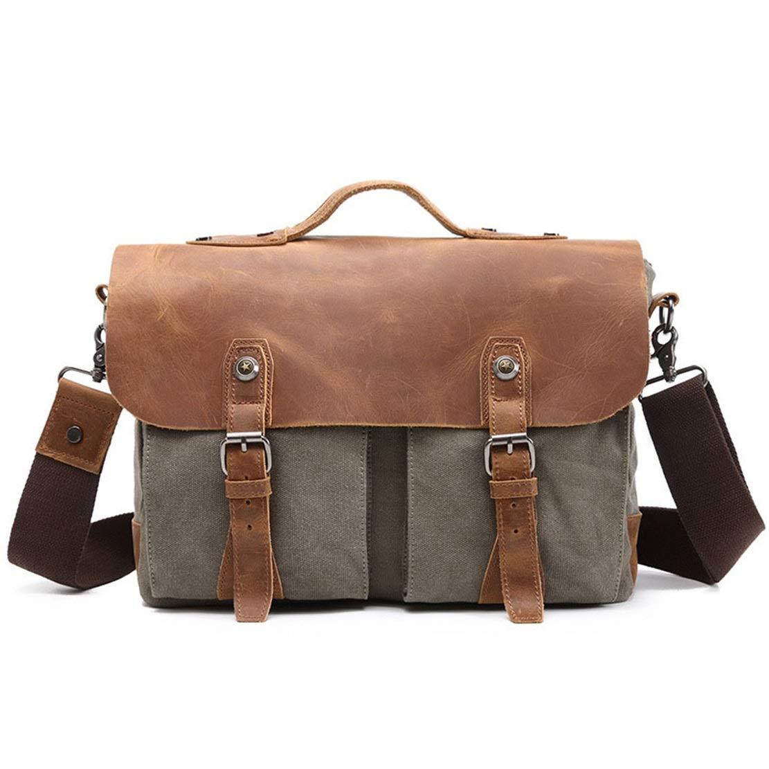 0958dacd87 Bureau Cartable Sac Business Serviette Mallette Sacoches pour tablette PC  Unisexe Vintage Messenger Bag Business Cartable ...