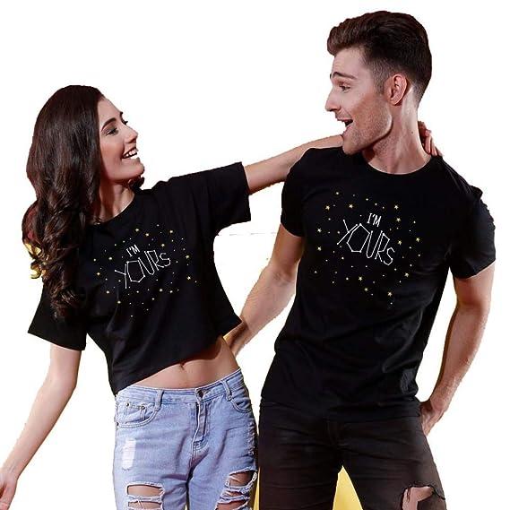 242a5b444b Bon Organik I'm Yours, Matching Couples Printed Cotton T-Shirt and Crop