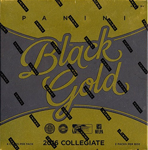 2016 NCAA Panini Black Gold Collegiate Football Hobby Box by Panini