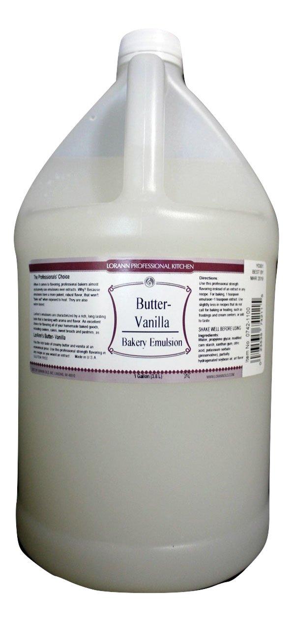 LorAnn Oils Butter Vanilla Bakery Emulsion, 1 Gallon