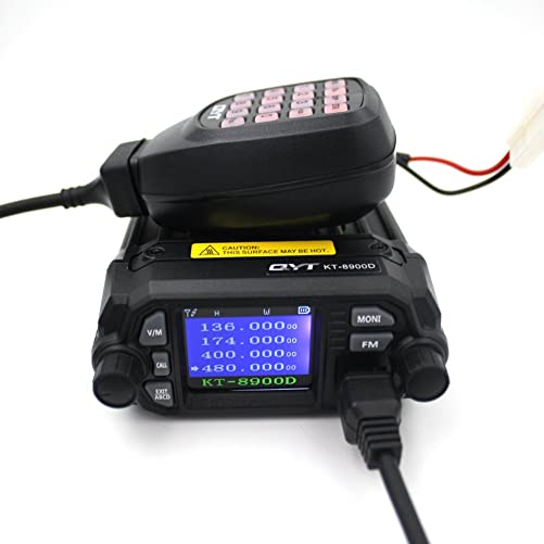 QYT KT-8900D Mobile Transceiver Dual Band QUAD Standby VHF UHF 136-174 400-480MHz Mini Car Radio Amateur HAM Radio