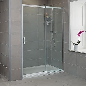 Para mampara de ducha de Walk In deslizante de esquina 1600 alcoba hueco 8 mm Panel