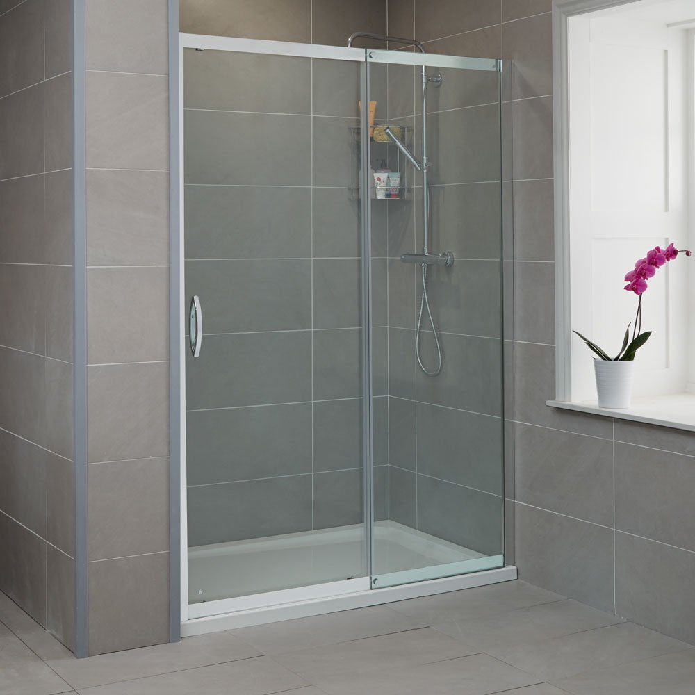 Frameless Sliding Shower Doors 1200mm Barletta