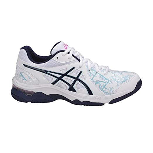 Asics Gel-Netburner Academy 7 Netball Shoes - White/Blue - UK 5