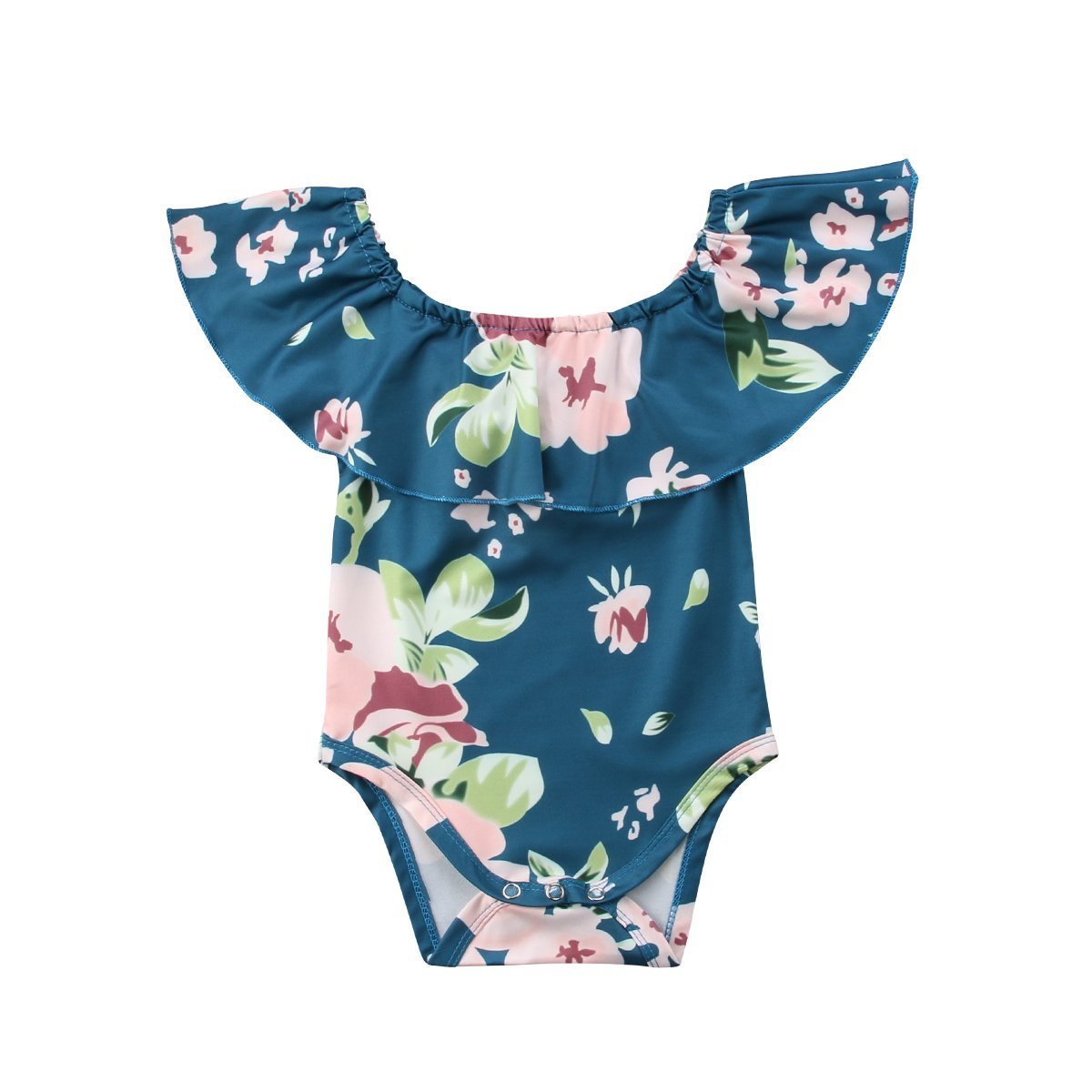 9feac43799bf Amazon.com  Infant Baby Girl Summer Floral Off Shoulder One Piece ...
