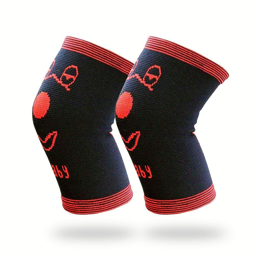 Aimeio 1 Pair Boys Girls Teens Knee Pad Anti-Slip Breathable Flexible Elastic Knee Brace Knee Support Protector for Football Volleyball Dance Skating Baskeball Sport