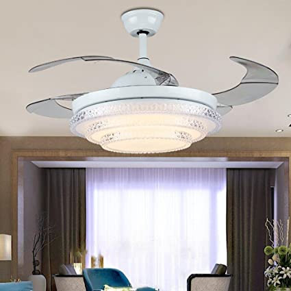 Rs lighting modern simple stealth ceiling fan led acrylic fan rs lighting modern simple stealth ceiling fan led acrylic fan chandelier living room restaurant bedroom stealth aloadofball Image collections