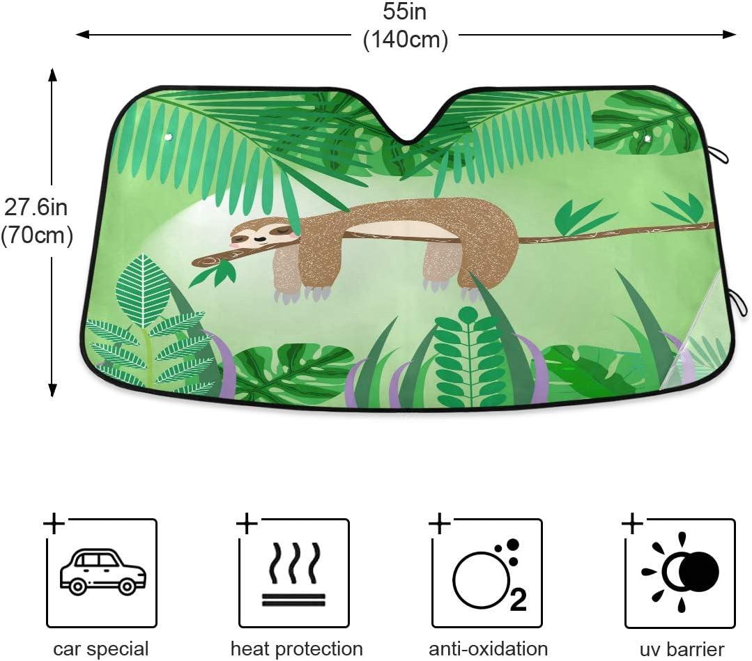 sch/ützt Ihr Auto vor Sonne das auf einem Baum schl/äft Windschutzscheiben-Sonnenschutz h/ält das Fahrzeug k/ühl Hitze und Blendung. Mnsruu Sonnenschutz mit niedlichem Faultier