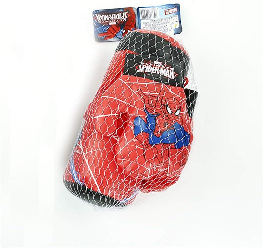 HEHE Enfants Les Enfants De Spider MMA Coup De Pied Sac De Boxe avec des Gants De Boxe Muay Thai Hanging Sandbag avec Gants De Boxe Jouets danniversaire,Bleu