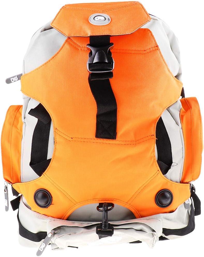 kesoto ローラースケートバッグ インラインスケート スポーツバックパック - 明るい3色 オレンジ
