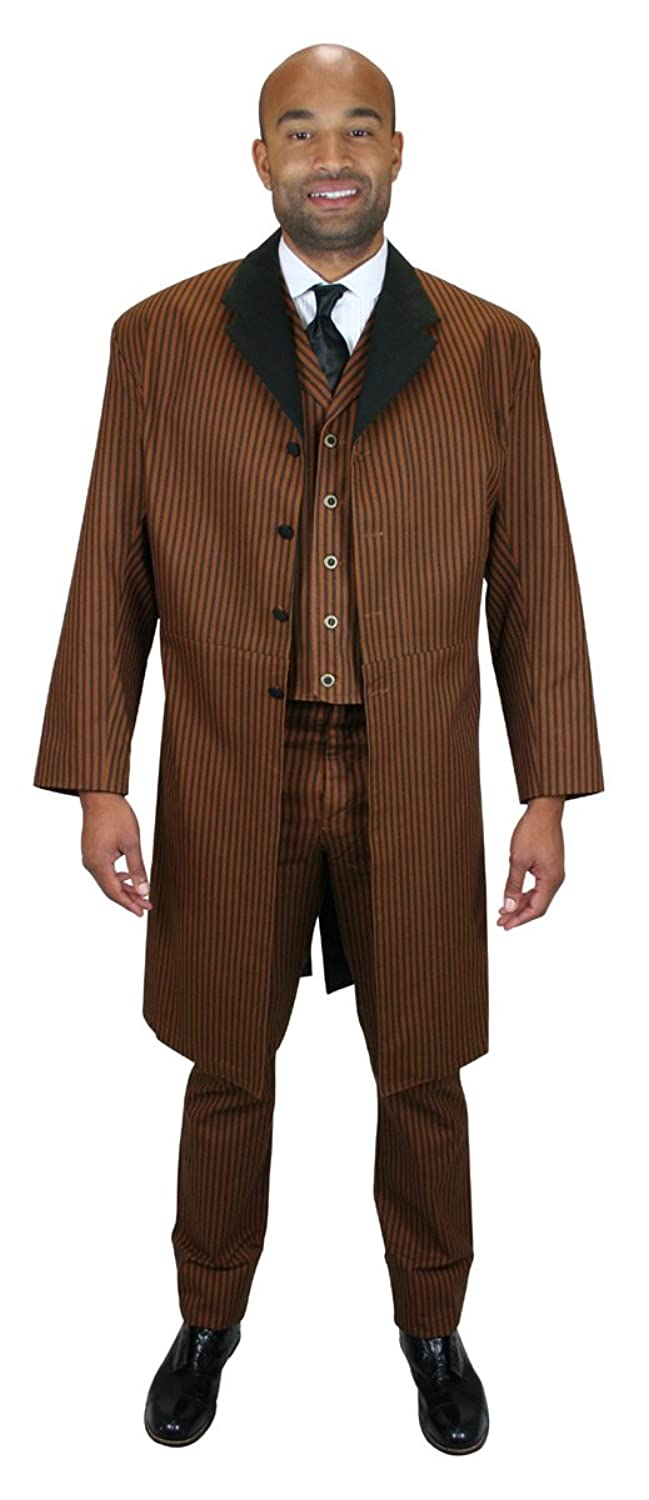 Victorian Men's Clothing  Mens Chadwick Cotton Frock Coat $149.95 AT vintagedancer.com