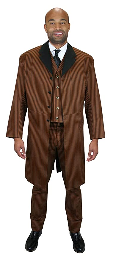 Steampunk Men's Coats Mens Chadwick Cotton Frock Coat $149.95 AT vintagedancer.com