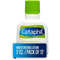 Cetaphil Moisturizing Lotion for All Skin Types, Body and Face Lotion, 2 Fl Oz (Pack of 12)