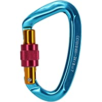 MagiDeal 24KN or 2400kg Screwgate Locking Carabiner Mountaineering Rock Climbing Rappelling Equipment