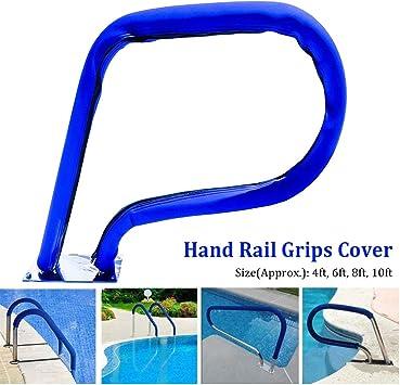 Cubierta para barandilla de alberca, de tela Oxford, color azul, para escaleras de piscina, pasamanos de seguridad de la piscina, cubierta protectora antideslizante: Amazon.es: Bricolaje y herramientas