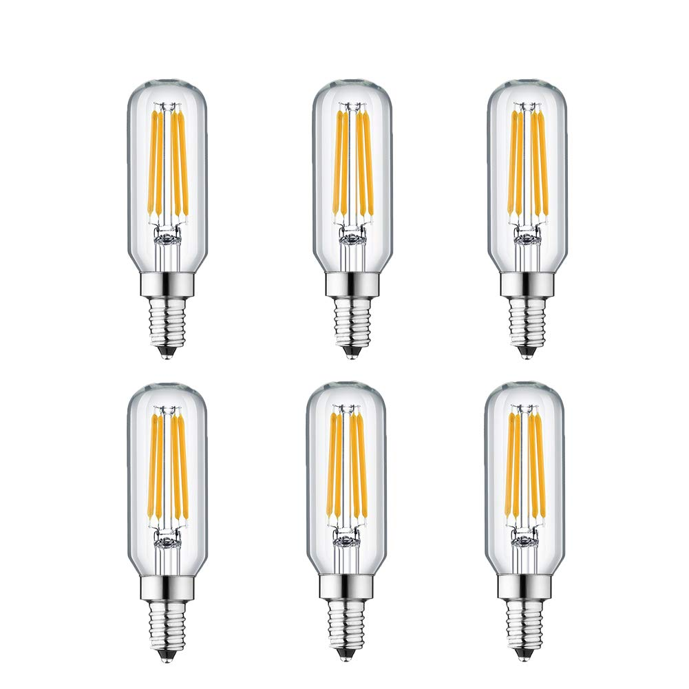 KunstDesign LED Candelabra Bulb 4W 6Pack LED Bulbs Dimmable 3000K Warm White Bulb with 400 Lumen, E12 LED Bulb Candelabra Base 40 Watt Equivalent T25 Tubular Bulbs Shape