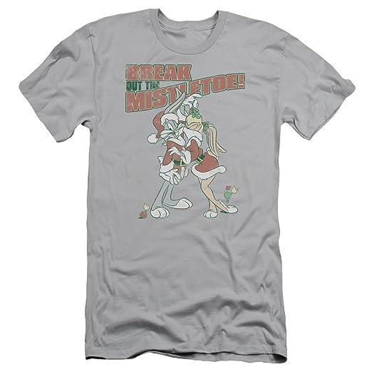 41f86623d Amazon.com: A&E Designs Bugs Bunny Shirt Mistletoe Slim Fit T-shirt ...