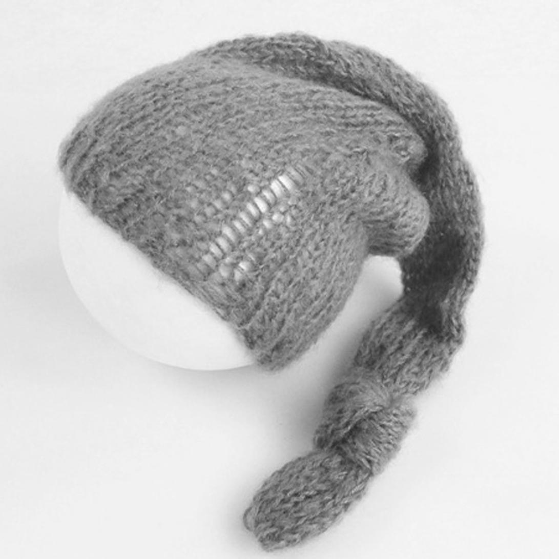HUHU833 Baby Hats Newborn Photography Hand Knit Posing Props Baby Hats Black