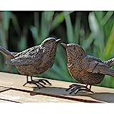 Detailed Resin Wren Bird Ornament for Home or Garden