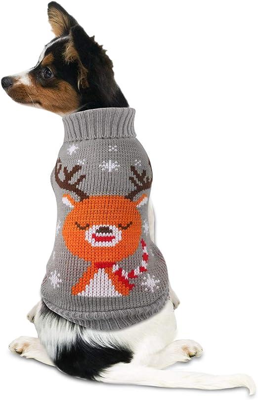 Comprar Idepet Disfraz de Gato Perro, Disfraz Gatuno Perro para Halloween Navidad Otoño Invierno Gris
