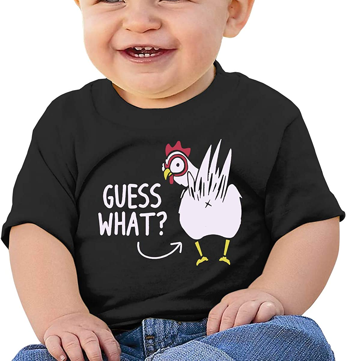 Guess What Chicken Butt Funny 6-24 Months Baby Boys /& Girls Sportstyle T-Shirts