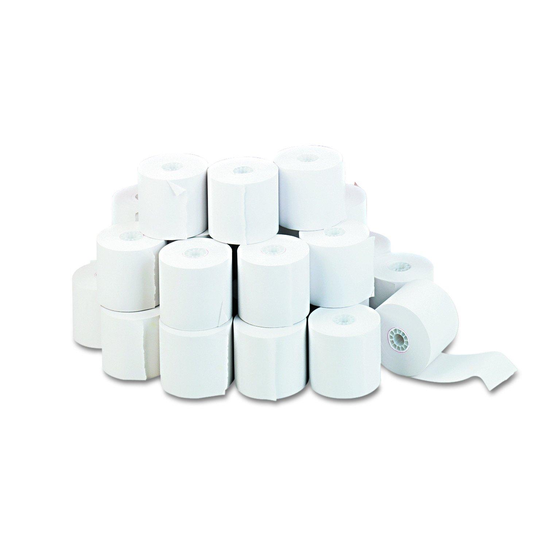 Universal 35710 Adding Machine/Calculator Roll, 16 lb, 1/2'' Core, 2-1/4'' x 150 ft,White (Case of 100)