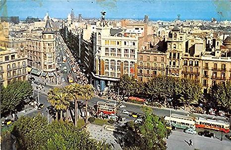 La Plaza De La Universidad Y La Calle De Pelayo Barcelona Spain