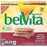 belVita Breakfast Biscuits, Cinnamon Brown Sugar, 5 Count Box, 8.8 Ounce (Pack of 6)