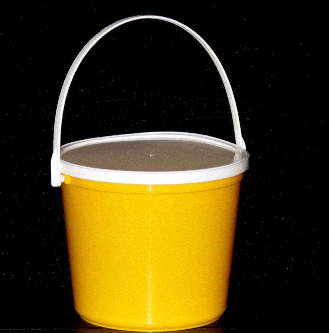 Plastic Buckets & Lids, 80 Ounces, 6 Pack,1 each Red Blue Yellow Orange Purple & Green by Talisman (Image #6)