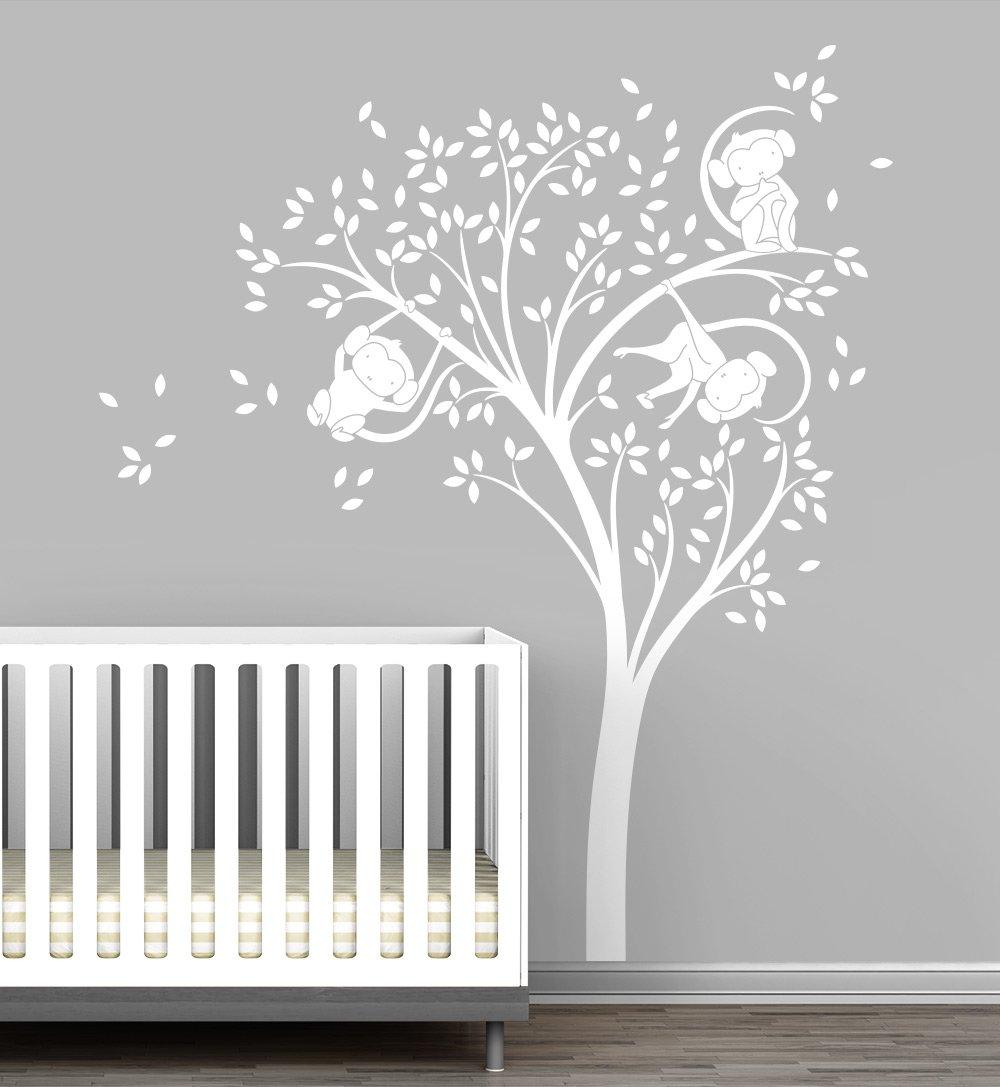 Monkey Tree Baby Nursery Wall Decal by LittleLion Studio