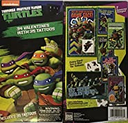 Teenage Mutant Ninja Turtle Valentines with Tattoos ~ 34 count ~ 1 box