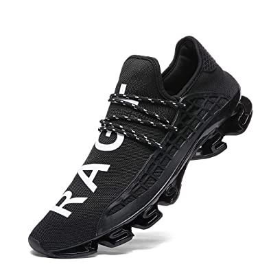 XIDISO Mens Running Shoes Womens Slip On Blade Mesh Fashion Men s Sneakers  Athletic Tennis Sports Cross ff60201165ef