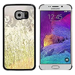 Paccase / SLIM PC / Aliminium Casa Carcasa Funda Case Cover para - Summer Sun Field Hay Ray Nature Warm - Samsung Galaxy S6 EDGE SM-G925