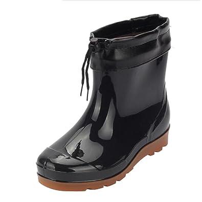 Men Rain Boots Waterproof Rubber Washing Work Boots