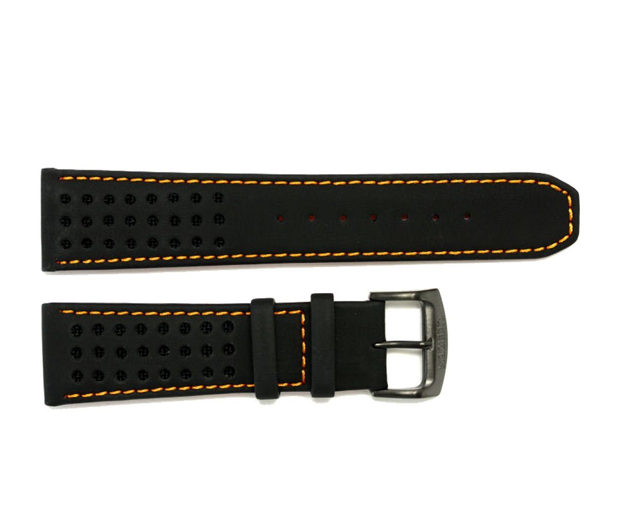 Citizen 59-S52631 Original Replacement Black Leather Watch Band Strap fits CA0467-11H 4-S084059