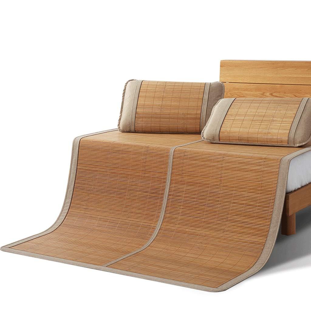 DUAN GUO FENG DGF Bambusmatte Double Folding Student Dormitory Einzelbett Kissen ohne Haken Dorn kühl und komfortabel