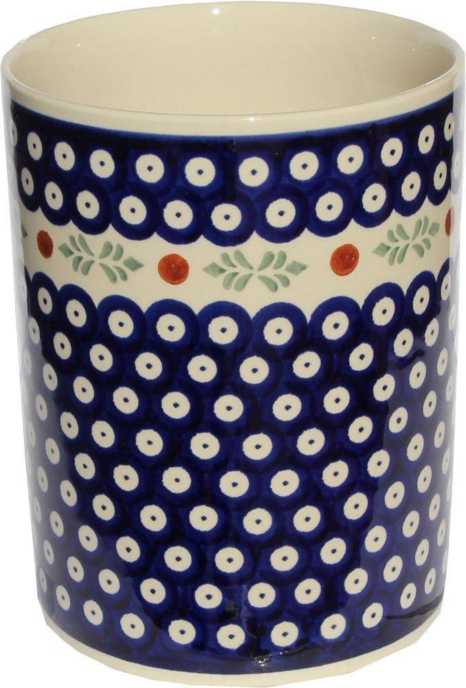 Polish Pottery Utensil Jar From Zaklady Ceramiczne Boleslawiec #832-242, High: 7