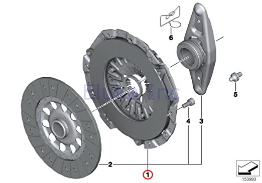 Amazon.com: BMW OEM Transmission Clutch Kit 535i 135i 135i Z4 35i 335i 335i 335i 335i 335i 335i: Automotive