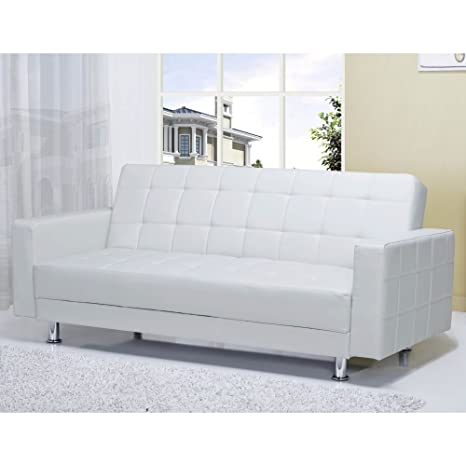 Stupendous Gold Sparrow Adc Fra Lov Pux Whi Frankfort Convertible Loveseat One Size Whtie Lamtechconsult Wood Chair Design Ideas Lamtechconsultcom